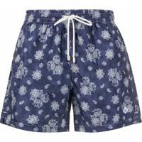Borrelli Sunga Com Estampa Floral E Paisley - Azul