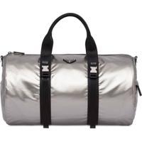 Prada Technical Fabric Duffle Bag - Prateado