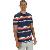 Camiseta Fila Summer Stripes - Masculina - Azul Escuro