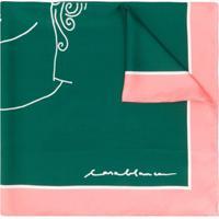 Casablanca Lenço De Seda Com Estampa - Rosa