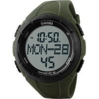 Relógio Pedômetro Skmei Digital 1122 - Verde E Preto
