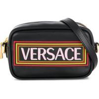 Young Versace Bolsa Com Estampa De Logo - Preto