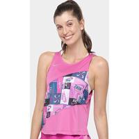 Regata Nike Icnclsh Singlet Pr Feminina - Feminino-Rosa+Prata