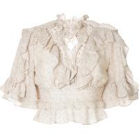 Acler Blusa Cropped Wickham - Branco