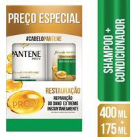 Kit Pantene Restauração Shampoo 400Ml + Condicionador 175Ml