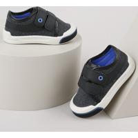 Tênis Infantil Pimpolho Com Velcro E Recorte Chumbo