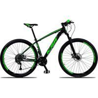 Bicicleta Aro 29 Ksw Xlt 27V Câmbios Shimano Acera M3000 Freio A Disco Mecânico Com Suspensão - Unissex