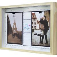 Quadro Para Fotos Namorados Arco E Flecha Varal Colorido 22X31Cm