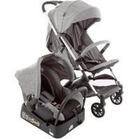 Carrinho De Bebê Com Bebê Conforto Safety 1St Ts Skill 0 A 15Kg - Unissex-Cinza