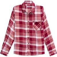 Camisa Xadrez Com Bolso Malwee Malwee Feminino - Feminino-Vinho