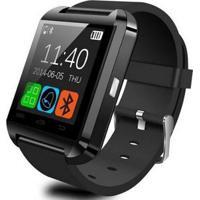 Relogio Bluetooth Smart Watch U8 Android Iphone 5 6 S5 Note - Unissex-Preto