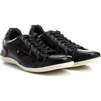 Sapatênis Couro Shoestock Recortes Masculino - Masculino