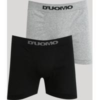Kit De 2 Cuecas Masculinas D'Uomo Boxer Multicor