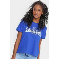 Camiseta Cruzeiro Time De Tradição Feminina - Feminino-Azul