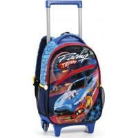 Mochila Infantil Com Rodas Seanite Racing Team