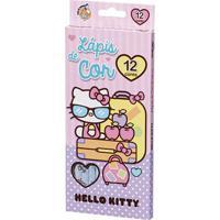 Lápis De Cor - 12 Cores - Hello Kitty - Viagem - Molin