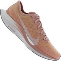 Tênis Nike Zoom Pegasus Turbo 2 - Feminino - Rosa Claro