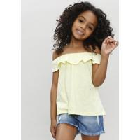 Blusa Infantil Ciganinha Amarela
