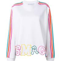 Mira Mikati Suéter Com Logo Bordado - Branco