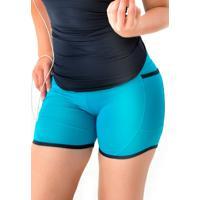 Shorts Mama Latina Bolso Mobile Azul Claro