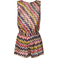 Missoni Open Back Zig Zag Knitted Playsuit - Rosa
