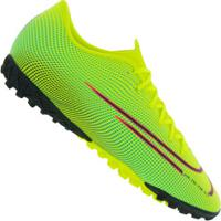 Chuteira Society Nike Mercurial Vapor 13 Academy Mds Tf - Adulto - Amarelo Fluor/Preto