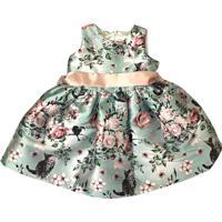 Vestido Gira Baby Kids Floral Verde