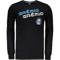 Camiseta Grêmio Manga Longa Masculina - Masculino