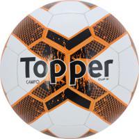 7b9ac64669 Bola De Futebol De Campo Topper Cup Iii - Branco Laranja