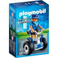 Playmobil - City Action - Mini Figura Policial Com Balance-Racer - 6877 - Sunny - Masculino-Incolor