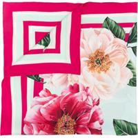 Dolce & Gabbana Lenço Com Estampa Camellia De Seda - Rosa