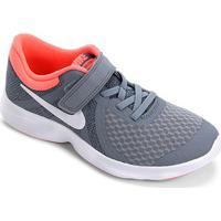 Tênis Nike Infantil Revolution 4 - Feminino-Cinza+Salmão