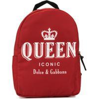 Dolce & Gabbana Kids Mochila Com Estampa Queen - X0860 Print