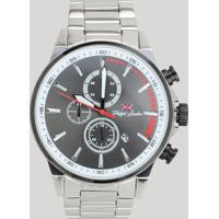 Relógio Cronógrafo Philip London Masculino - Pl80019633M Prateado - Único
