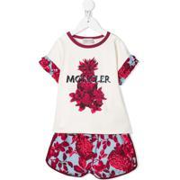 Moncler Kids Conjunto Esportivo Com Estampa Floral - Branco