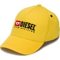 Diesel Kids Boné Com Logo Bordado - Amarelo