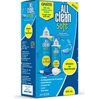 Kit Solução Para Lentes De Contato All Clean Soft 350Ml Grátis 120Ml + Estojo Para Lentes