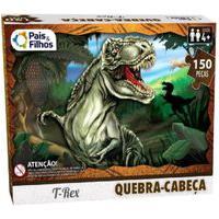 Quebra-Cabeça 150 Peças T-Rex - Pais E Filhos