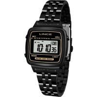 Relógio Feminino Lince Retrô Sdph068L Bxpx - Unissex-Preto