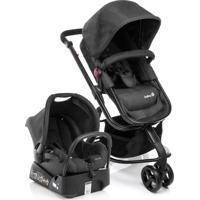 Carrinho De Bebê Travel System Mobi Safety 1St Full Preto