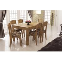 Conjunto Mesa Extensível 136/196Cm Tm38 6 Cadeiras Ca12 Dalla Costa Nobre Com Chenille Floral