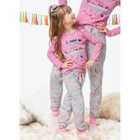 Pijama Rosa Claro Feminino Estampado Arco-Íris