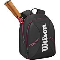 Mochila Wilson Esportiva Tour Backpack Preta E Pink