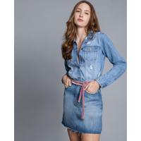 Jaqueta Jeans Estonada Destroyed Jeans - Lez A Lez