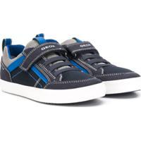 Geox Kids Mesh Colour Block Sneakers - Azul