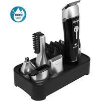 Kit Aparador De Pelos Relaxbeauty Multi Groom À Prova D'Água - Masculino-Preto
