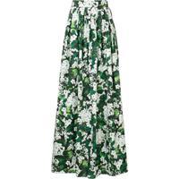 Dolce & Gabbana Saia Longa Floral - Verde