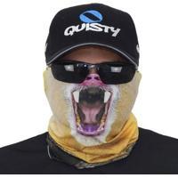 Máscara De Proteção Solar Macaco Mandril 3D Uv 50 Protection - Pesca Esportiva - Masculino-Preto