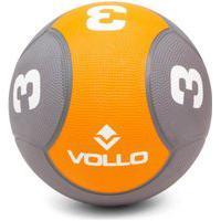 Bola Medicine Ball Borracha 3Kg Peso Cross Funcional - Vollo