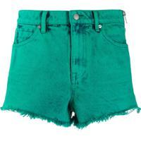 Alexander Wang Frayed Denim Shorts - Verde